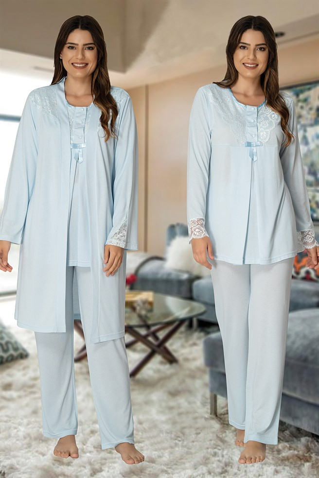 Effortt 3040 Maternity Pajama and Robe Sets