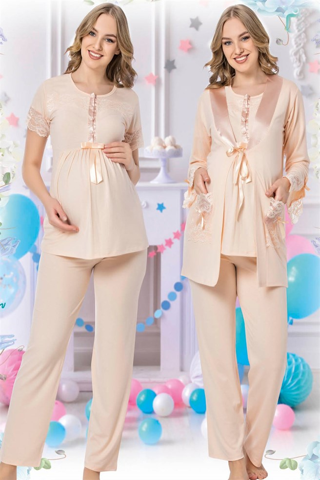 jenika 35724 Maternity Pajama Sets with Robe