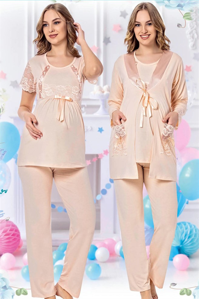 jenika 35738 Maternity Pajama Sets with Robe