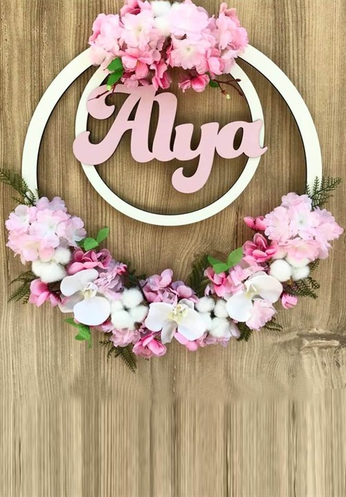 Maternity Nursing Personalized Flower Plexi Door Ornament LH9002