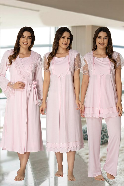 Effortt 2050 Baby Pink Maternity Nursing 4 Pieces Set