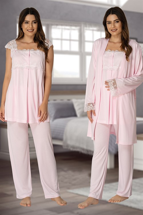 Effortt 2301 Maternity Pajama and Robe Set