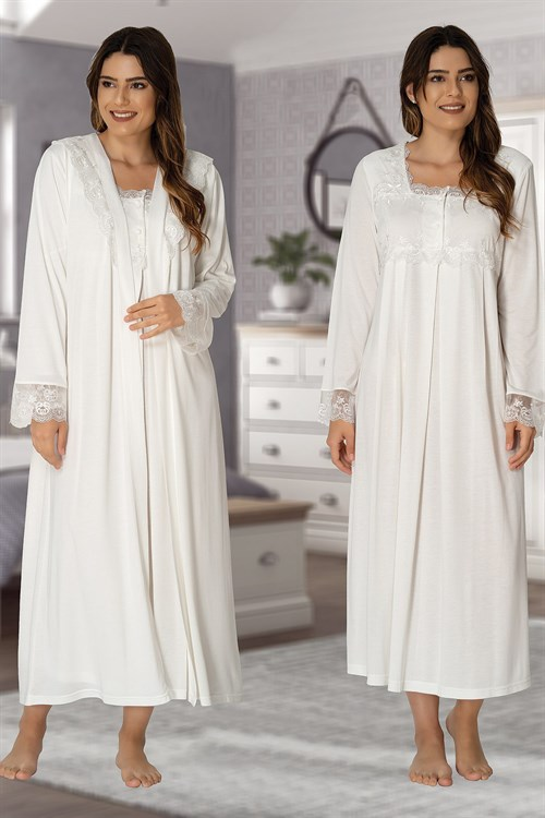Effortt 2402 Maternity Nightgown and Robe Sets