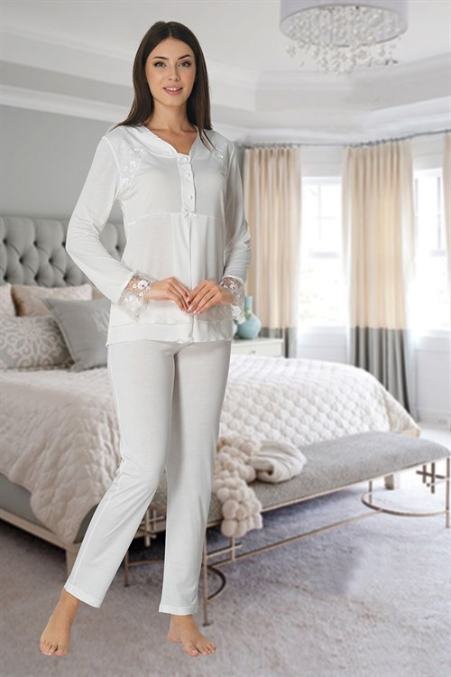 Effortt 2422 Ecru Maternity Pajama