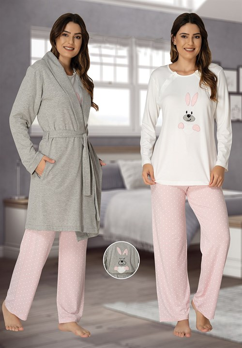 Effortt 3090 Maternity Pajama and Robe sets
