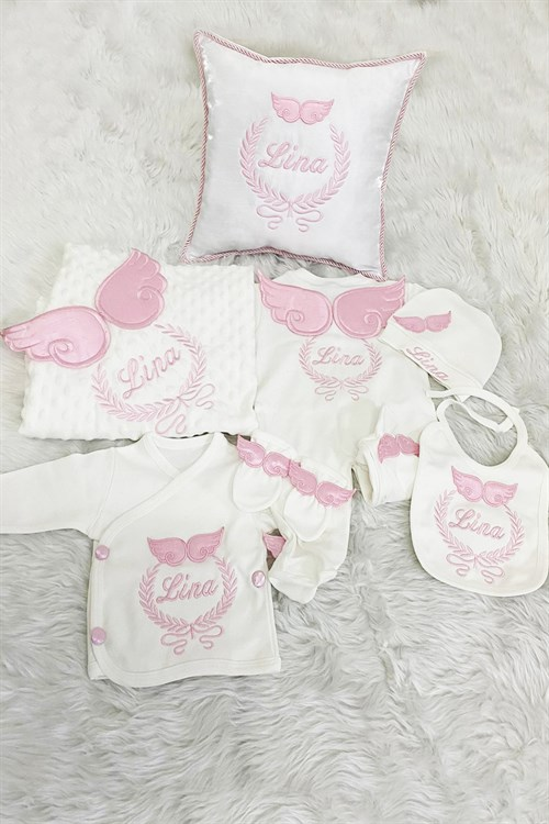 Personalized Hospital Exit Set of 10 and Baby Pillow-LH1139