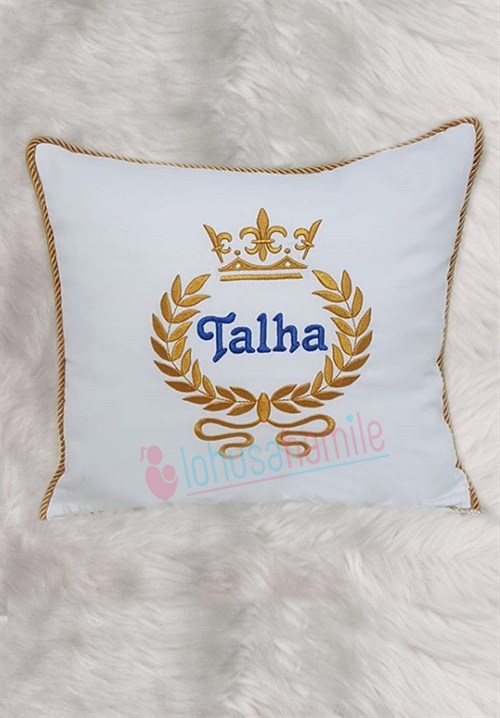 Personalized Crown Embroidered Baby Pillow 612