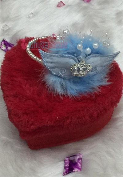 Lh 107 Baby Blue Wing Embroidered Maternity Crown