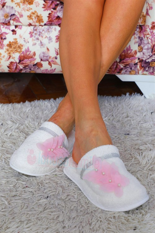LH 12040 Baby Pink Butterfly Model Maternity Nursing Slipper