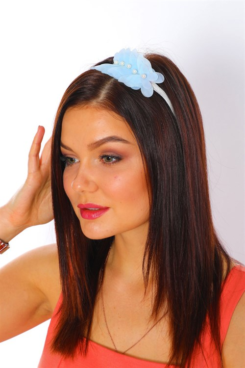 LH 1242 Baby Blue Butterfly Model Maternity Crown