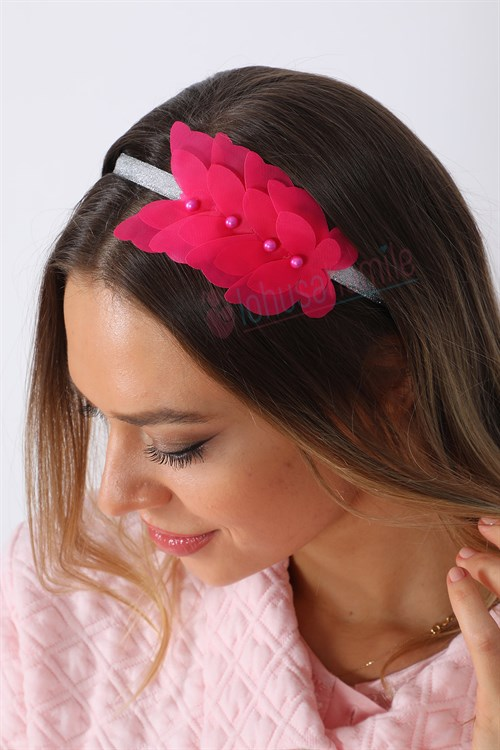 LH 1244 Fuchsia Butterfly Model Maternity Crown