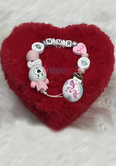 Lh 546 Pink Personalized Dummy Chain with Name