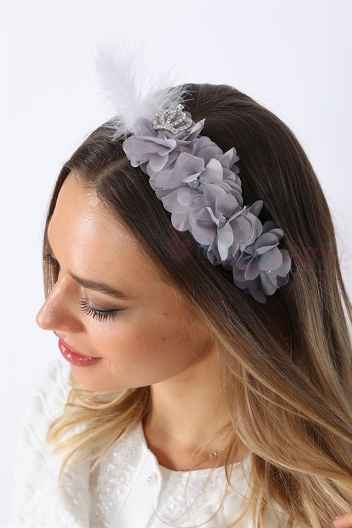 Lh1280 Grey Lotus Maternity Crown