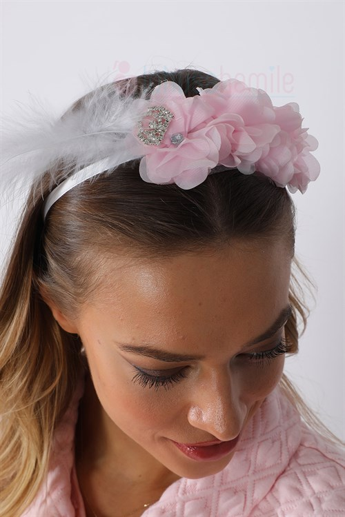 Lh1283 Baby Pink Lotus Maternity Crown