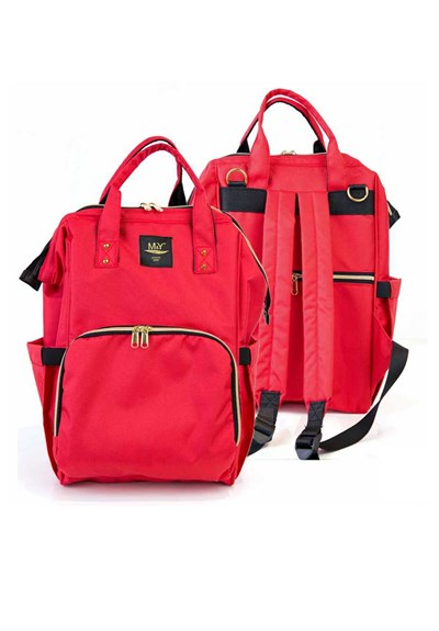 MY Collection Red Color 6610 Go Mother Baby  Care Backpack