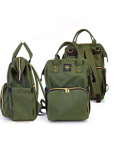 MY Collection Khaki Green 6610 Go Mother Baby  Care Backpack