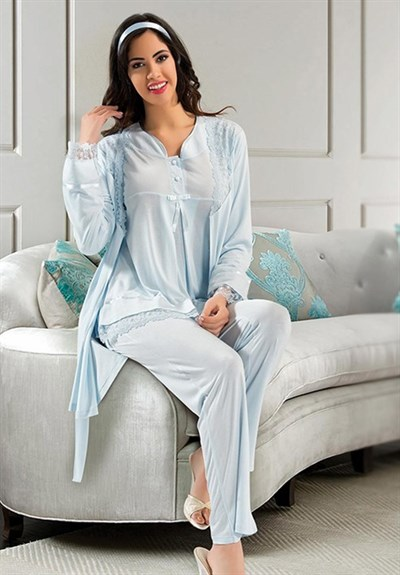 Xses 2190 Maternity Pajama and Robe Set